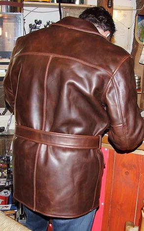 Aero Leather Barnerstormer Ansicht von Hinten