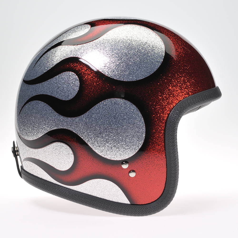 90754 Cosmic Flake Silver Red Flame