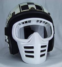 Off-Road-Mask von 70s auf Dirties Motorradhelm