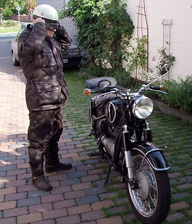 SunStuff Motorradhose Street Pro aus Waxcotton
