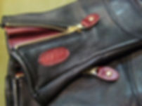 vanson Motorradhandschuh pferdeleder details