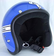 Motorradhelm aus der Pastello-Kollektion der italienischen Firma Seventies.