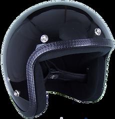 Motorradhelm der Pastello-Kollektion mit Druckknöpfen ohne Aufkleber in Schwarz.