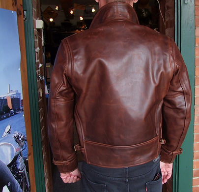 Aero Leather Route 66 Ledejacke Rückseite