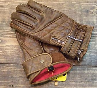 Goldtop The Quilted Cafe Racer Gloves