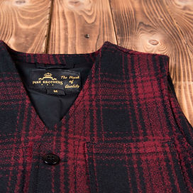 1937 Roamer Vest aus red chequered wool