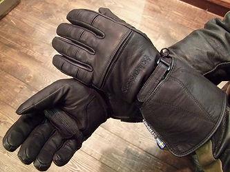halvarssons logan Motorradhandschuh bequem schwarz mi Stulpe