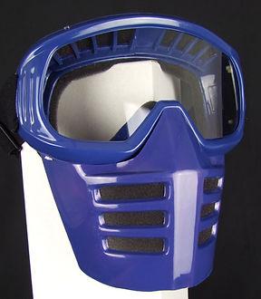 Off-Road-Mask von 70s auf Dirties Motorradhelm Blau