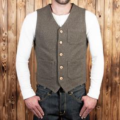 1937 Roamer Vest_grey wool
