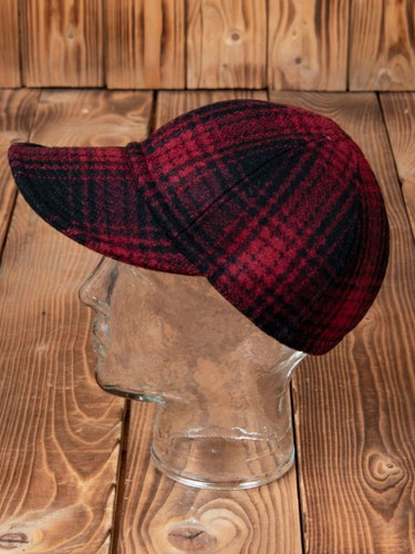 Pike Brothers 1944 A3 Cap red check wool