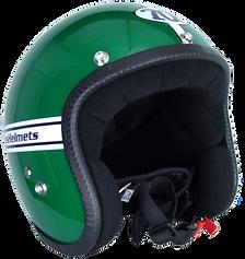 Der grüne Motorradhelm aus der Pastello-Kollektion von 70s.