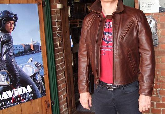 Aero Leather Route 66 Lederjacke Front