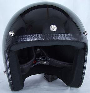 Frontansicht des Motorradhelmes in Glossy Black.