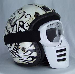 Off-Road-Mask von 70s auf Dirties Motorradhelm Seitenansicht