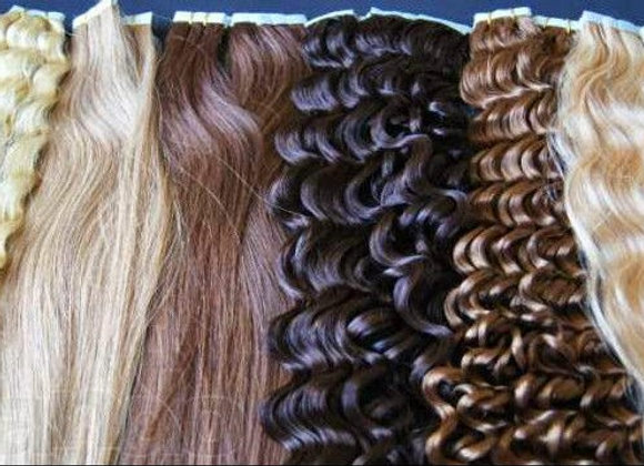 Mega Hair de fita adesiva