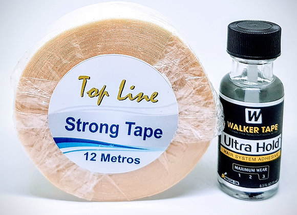 Kit Strong12 contem 1 cola Ultra Hold 15ml+Strong Tape 12m.