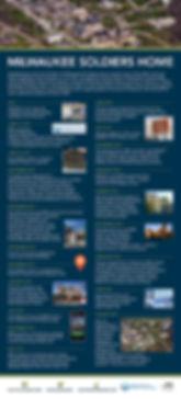 A timeline highlighting major milestones.