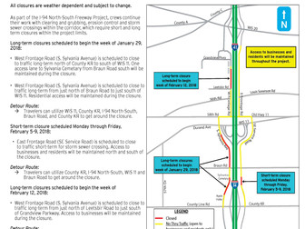 Frontage Road Construction Updates