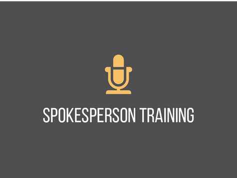 Spokesperson Training