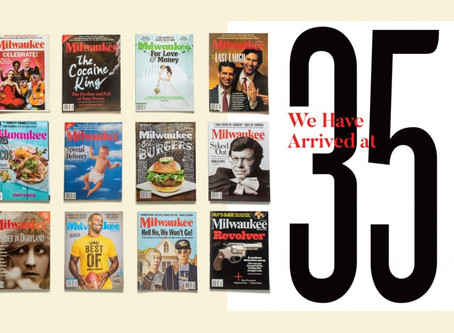 Mueller featured in Milwaukee Magazine 35th Anniversary Special: A  Look Back