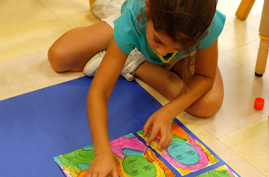 Private School Student in Art Class in Madison, WI at Kids Express Learning Center