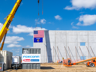 First Vertical Construction Begins on Foxconn Site