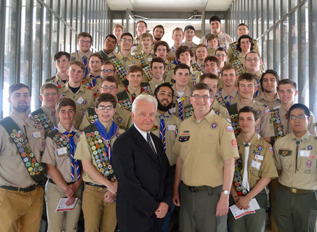 Carl  Mueller Recognized at Special Eagle Scout Ceremony