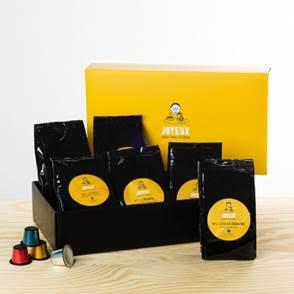 Coffret dégustation - 60 capsules : 6 sortes de café
