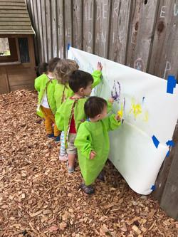 Séance de peinture en plein air
