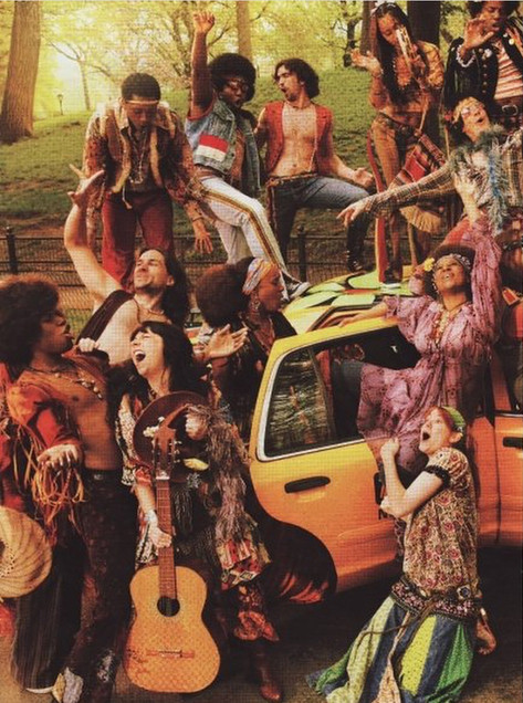 """Broadway Cast of """"Hair"""" in Vogue Magazine. Photo by Mario Testino"""