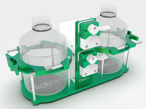 Clickbio Pump Stand for Automatic Fill Station for use on Automated Liquid Handling robots for cell culture media and saline