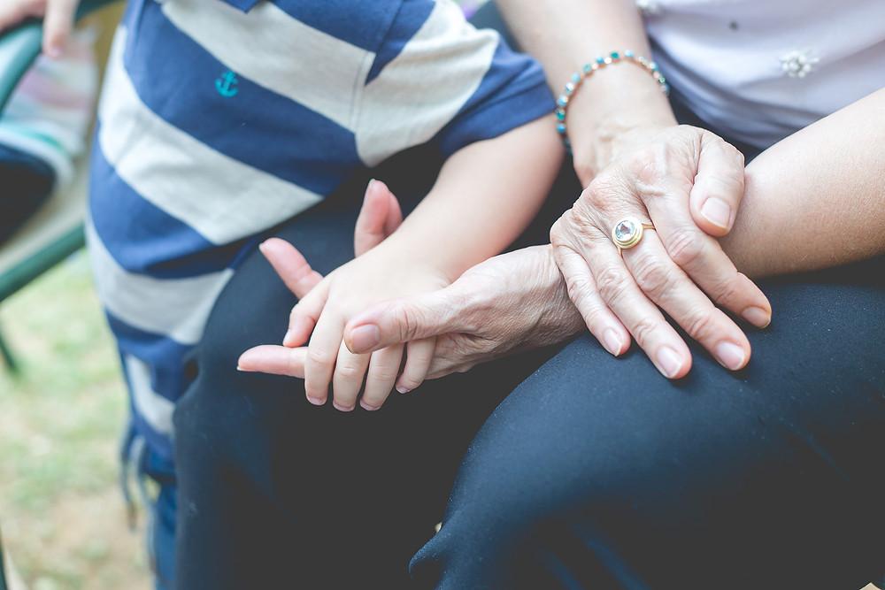 צילומים עם סבתא