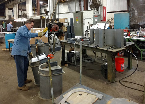 Full fabrication services including sheet metal, welding, assembly and testing