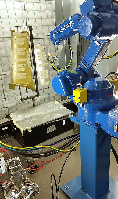 Yaskawa Motoman paint robot integration for aerospace coating