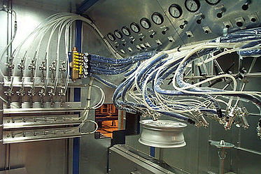 Pneumatic interface panels for convenience in adjusting paint process