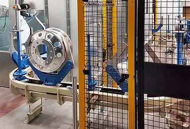 Safety guarding for robot paint line