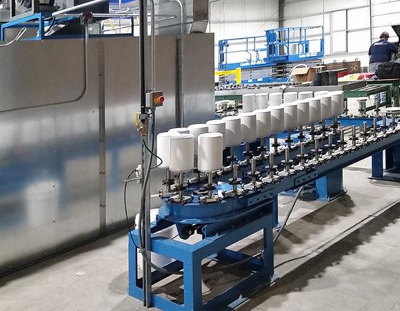 cylinder paint line conveyor