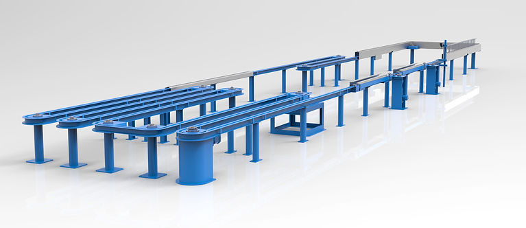 chain on edge finishing conveyor systems