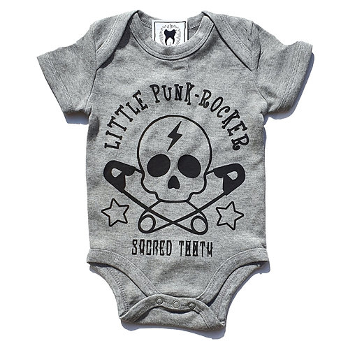 """Sacred Tooth """"Little Punk Rocker """" Baby body Suit"""