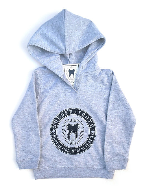 """Sacred Tooth """" Supporting Subcultures """" Baby Hoodie"""