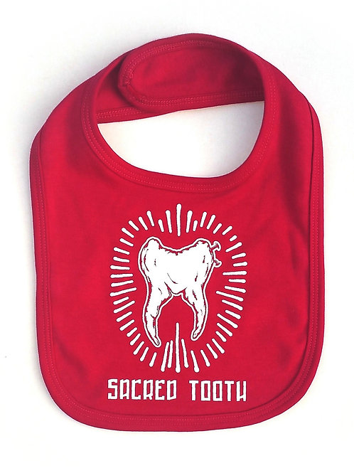 "Sacred Tooth "" Tooth "" Baby Bib"