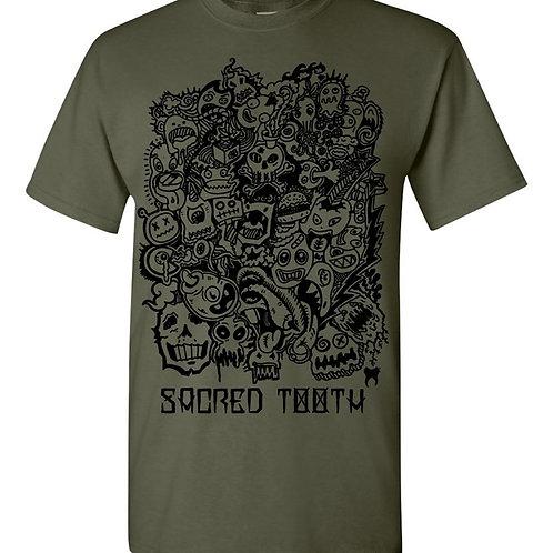 """""""Doodle"""" Men's T-shirt Khaki"""