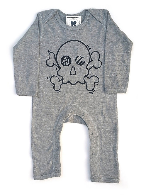 "Sacred Tooth ""Skull N Bones "" Rompersuit"