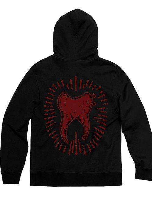 """Sacred Tooth """" Tooth """" Unisex Zip Hoodie"""