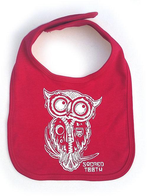 """Sacred Tooth """" Owl """"  Baby Bib"""