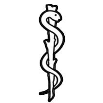 Logo consultorio, baston de esculapio
