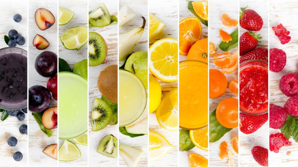 colores variados en la dieta