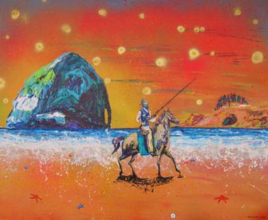 Cowboy on the Beach