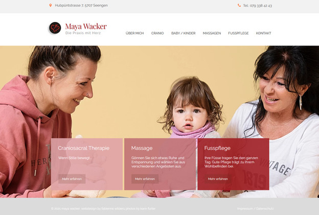 Maya Wacker - Craniosacral Therapie, Massagen, Fusspflege, Seengen