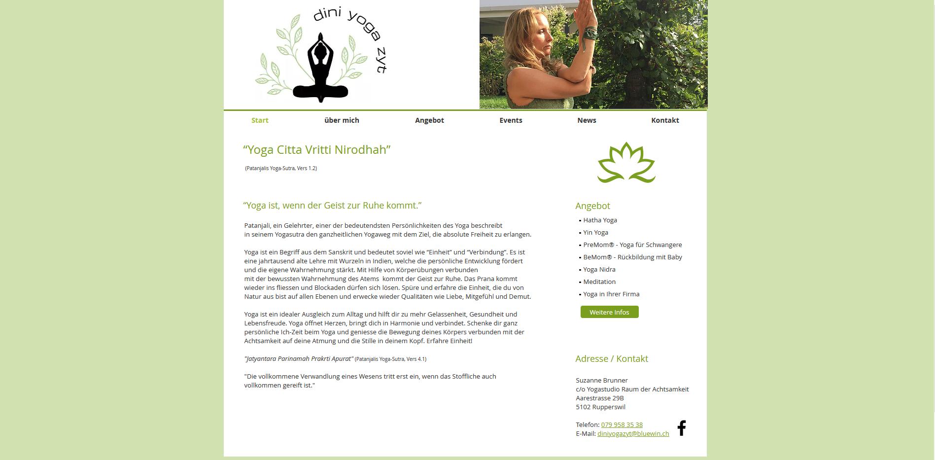 Suzanne Brunner, Yoga und Meditation